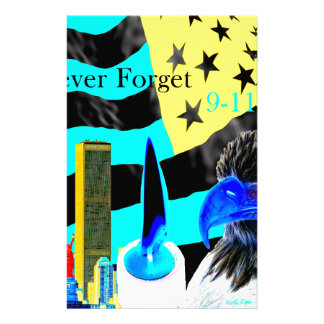 Never Forget 9-11-01 Negative Personalised Stationery
