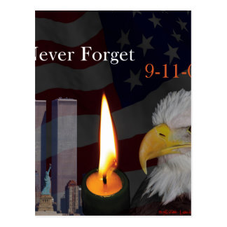 Never Forget 9-11-01 Postcard
