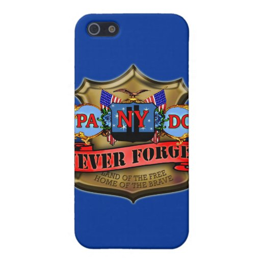 Never Forget 9/11 Badge Style Design Cover For iPhone 5