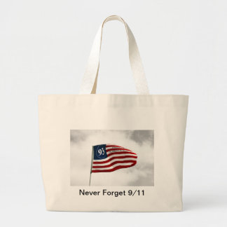 Never Forget 9/11- Flight 93 Large Tote Bag