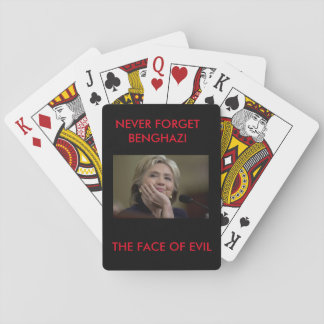 NEVER FORGET BENGHAZI THE FACE OF EVIL PLAYING CARDS