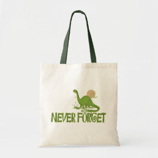 Never Forget Dinosaur Tote Bag