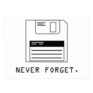 Never Forget : Floppy Disk Postcard