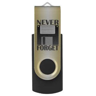 Never forget, floppy disk swivel USB 2.0 flash drive