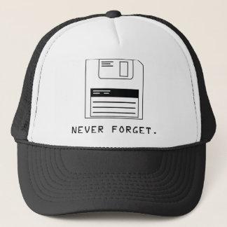 Never Forget : Floppy Disk Trucker Hat