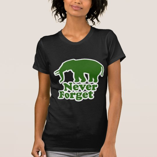 Never Forget Funny Satire Elephant T-Shirt
