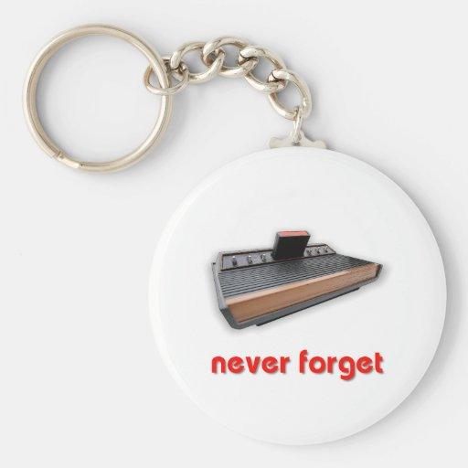Never Forget Old School Gaming Key Chain