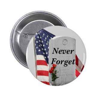 Never Forget Our Soldiers 6 Cm Round Badge
