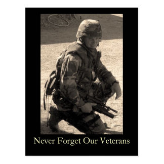 Never Forget Our Veterans Postcard