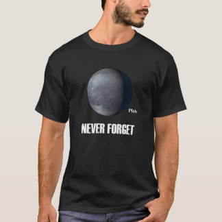 Never Forget Pluto Dark T-Shirt