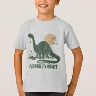 Never Forget Sad Sauropod by Mudge Studios T-Shirt