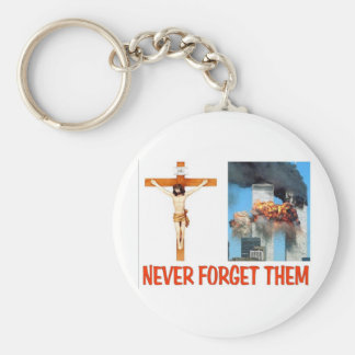 NEVER FORGET THEM BASIC ROUND BUTTON KEY RING
