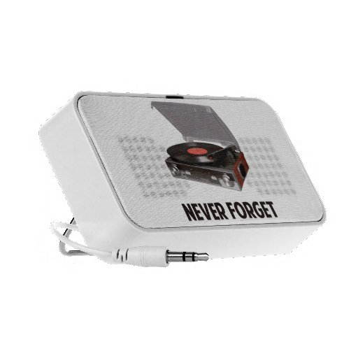 Never Forget Vinyl Record Players iPod Speaker