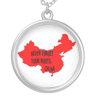 Never forget your roots: China Silver Plated Necklace