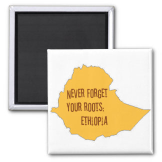 Never forget your roots: Ethiopia Fridge Magnet