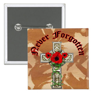 Never Forgotten 15 Cm Square Badge