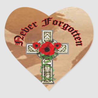 Never Forgotten Heart Sticker