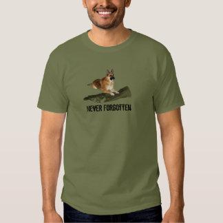Never Forgotten Honoring Military T-Shirt