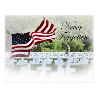Never Forgotten - Memorial Day Postcard