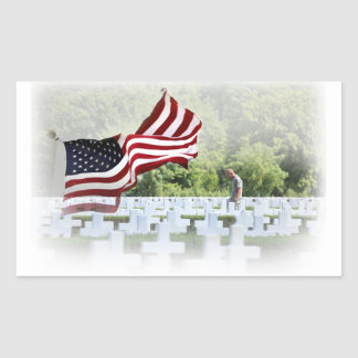 Never Forgotten - Memorial Day Rectangular Sticker