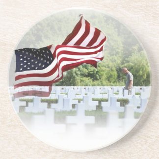 Never Forgotten - Memorial Day Sandstone Coaster