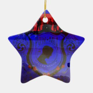Never Forgotten POW-MIA Ceramic Star Decoration