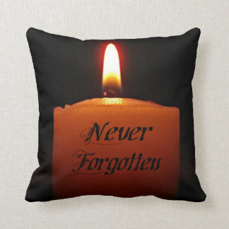 Never Forgotten Remembrance Candle Flame Cushions