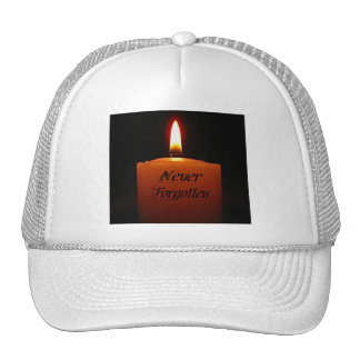 Never Forgotten Remembrance Candle Flame Hats