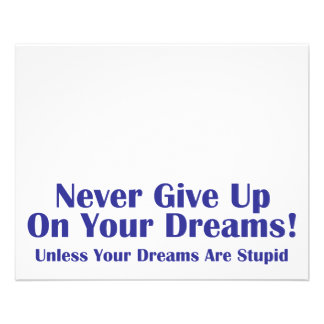 Never Give Up 11.5 Cm X 14 Cm Flyer