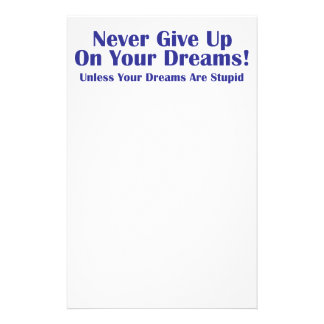 Never Give Up 14 Cm X 21.5 Cm Flyer