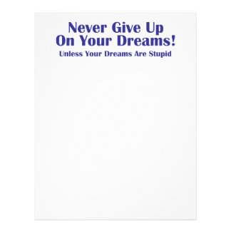 Never Give Up 21.5 Cm X 28 Cm Flyer