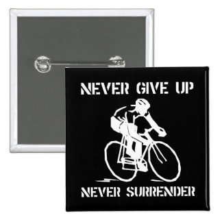 Never Give Up Biker 15 Cm Square Badge