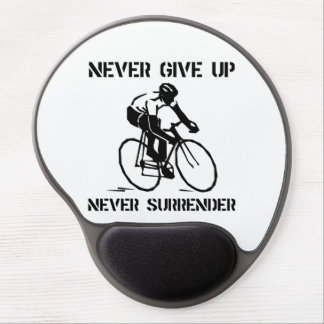 Never Give Up Biker Gel Mouse Pad