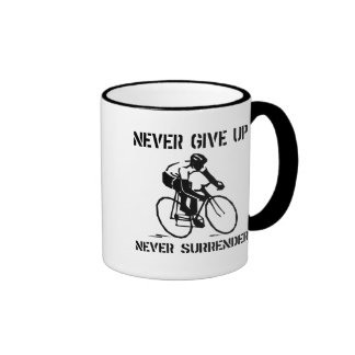 Never Give Up Biker Ringer Mug