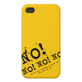 Never Give Up Case For The iPhone 4