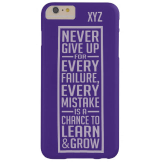 NEVER GIVE UP custom monogram cases