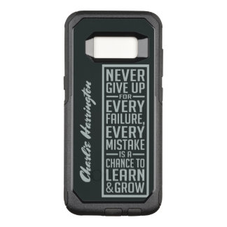 NEVER GIVE UP custom name phone cases