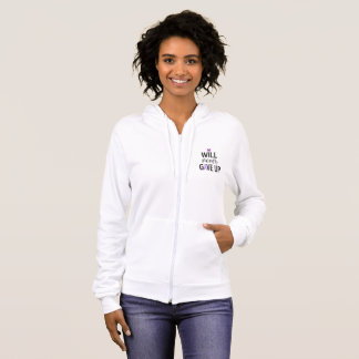 Never Give Up Fibro Hoodie