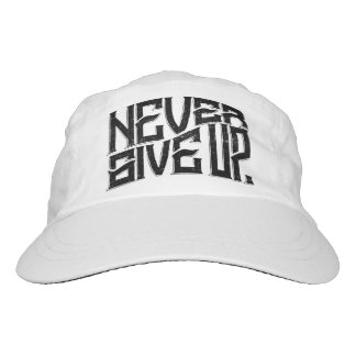 Never Give Up Hat Black Text