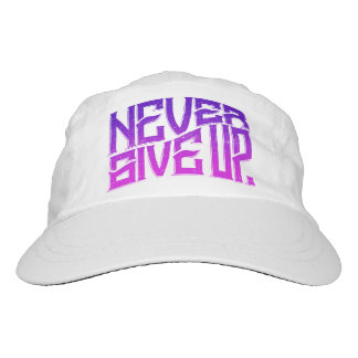 Never Give Up Hat Purple