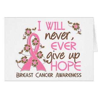 Never Give Up Hope 4 Breast Cancer Cards