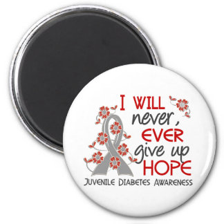 Never Give Up Hope 4 Juvenile Diabetes 6 Cm Round Magnet
