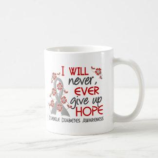Never Give Up Hope 4 Juvenile Diabetes Basic White Mug