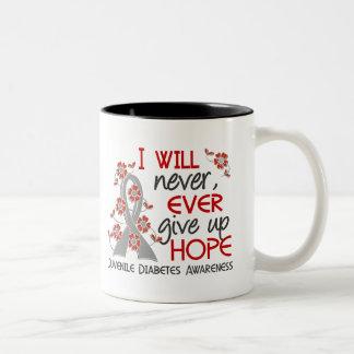 Never Give Up Hope 4 Juvenile Diabetes Two-Tone Coffee Mug