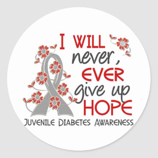 Never Give Up Hope 4 Juvenile Diabetes Classic Round Sticker