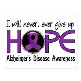 Never Give Up Hope 5 Alzheimer's Disease Postcard