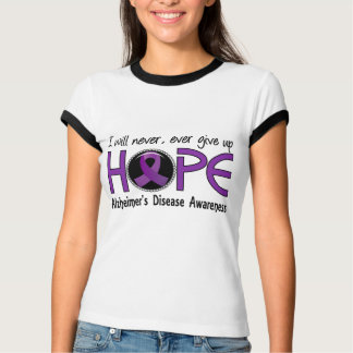 Never Give Up Hope 5 Alzheimer's Disease Tee Shirts