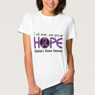 Never Give Up Hope 5 Alzheimer's Disease Tshirts