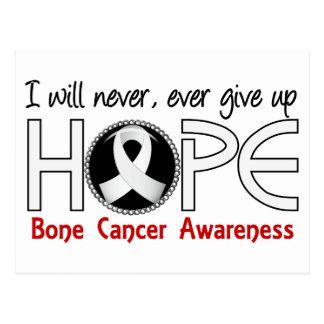 Never Give Up Hope 5 Bone Cancer Postcard