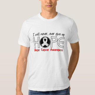 Never Give Up Hope 5 Bone Cancer T Shirts